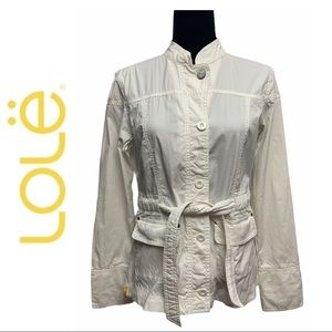 Lole Ivory Button Down Jacket